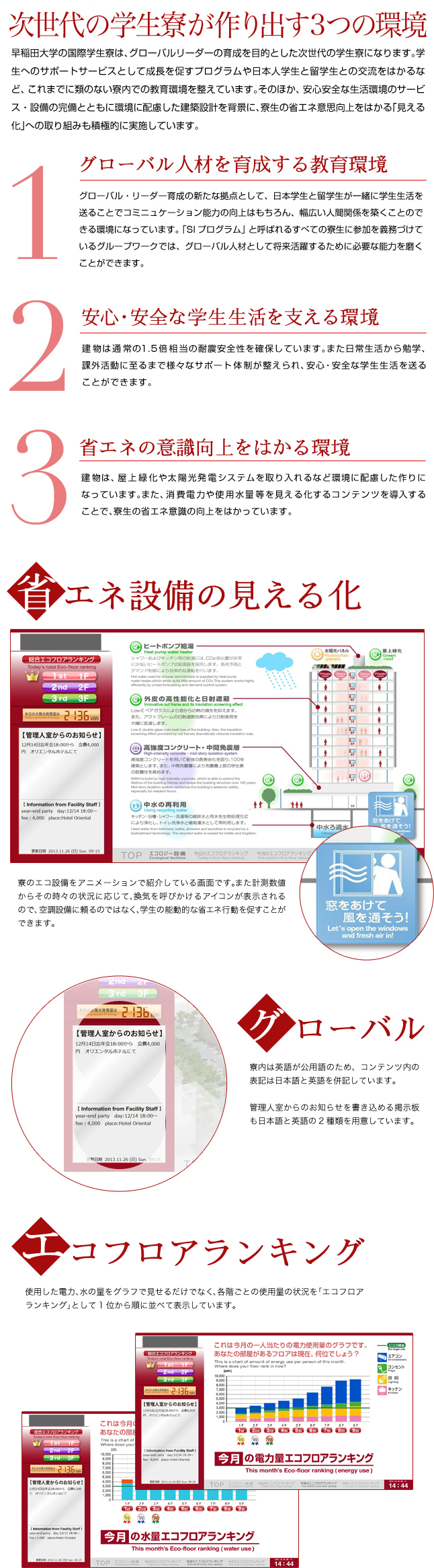 早稲田大学 中野国際コミュニティプラザ学生寮本文